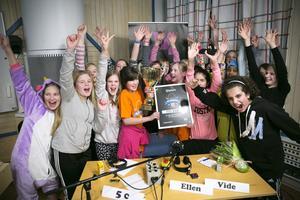 Östra skolan i Faluns 5C vann  Vi i femmans länsfinal och blev årets Dalamästare.