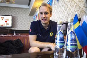 Erik Säfström under VM i Uljanovsk. Sverige åkte överraskande ut redan i semifinal mot Finland.