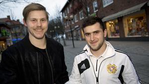 Claes Gustafsson, till vänster, och Tigran Grigoryan.