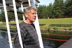 Leif Bergström är bekymrad efter vandaliseringen.