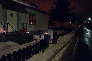 Dags att släcka lamporna igen. Så här såg det ut på Hamrevägen i Bollnäs under Earth hour förra året.