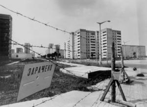 Arbetarbladet, 26 april 1991. Övergivet. Direkt efter Tjernobylkatastrofen spärrades stora områden av i Kievområdet. Här är staden Pripjat.