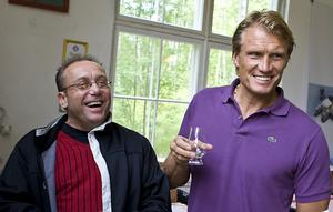 Kent Andersson hade många roliga minnen att prata om med Dolph Lundgren.