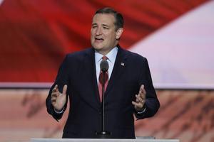 Ted Cruz, senator från Texas, var en av dem som utmanade Donald Trump om att bli Republikanernas presidentkandidat
