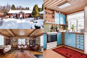 På Enviksbyn 27 ligger två timmerbyggnader som kan användas både som fritidshus och permanent boende.