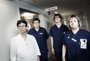 Distriktssköterskorna i Ockelbo ger inte upp kampen. Får de inte igenom sina krav säger de upp sig, säger Monica Andersson, Kinga Millberg, Solveig Lindberg och Ann-Charlotte Stark.