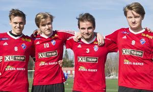 Rickard Pettersson, Hugo Eriksson, Kristoffer Lund och Jonas Eriksson.