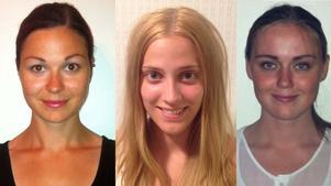 Petra Andersson, Johanna Wikberg och Rebecca Andersson är klara för Lindesberg Volley.