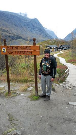 Vandring. Jag och Alexandra Jansson från Kolbäck besteg Kebnekaise, ett mål för oss båda. Foto: Stig Lindholm, Finland
