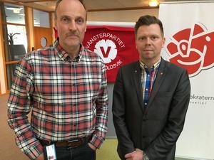 Göran Wåhlstedth (V) och Per Nylén (S)